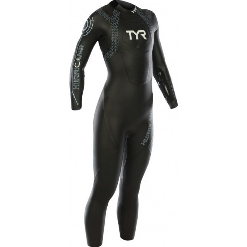 Costum Neopren Triatlon Femei Tyr Hurricane Cat.2 Black/Light Blue