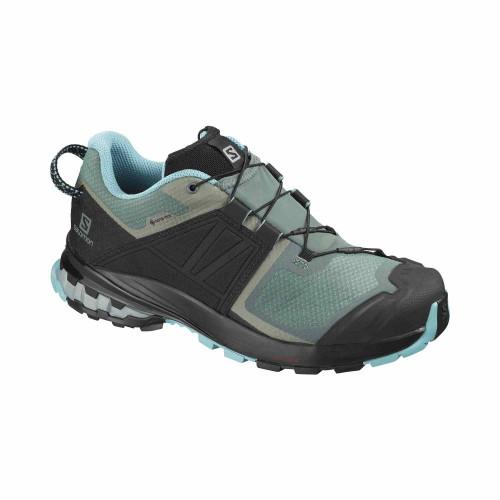 Pantofi Alergare Femei Salomon  Xa Wild Gtx W Balsam Gr/Bk/Meadowb