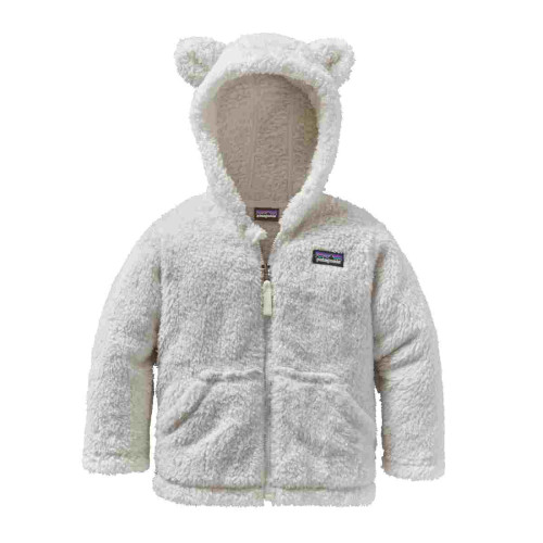 Hanorac Copii 0-5 ani Patagonia Baby Furry Friends Hoody Birch White