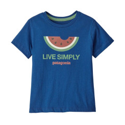 Tricou Copii Patagonia Baby Live Simply Organic T-Shirt Superior Blue Tricou Copii Patagonia Baby Live Simply Organic T-Shirt Superior Blue
