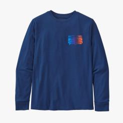 Bluza Copii Patagonia Boys' L/S Graphic Organic T-Shirt Fitz Roy Rambler: Superior Blue Bluza Copii Patagonia Boys' L/S Graphic Organic T-Shirt Fitz Roy Rambler: Superior Blue