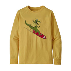 Bluza Drumetie Copii Patagonia Boys' L/S Graphic Organic T-Shirt Surfboard Yellow