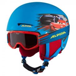 Casca si Ochelari Ski Copii Alpina Zupo Disney Cars Multicolor Casca si Ochelari Ski Copii Alpina Zupo Disney Cars Multicolor