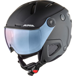 Casca Ski Alpina Attelas Visor QVMM black matt/silver